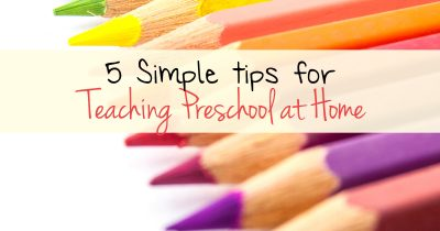 5 Simple tips for teaching preschool at home FB