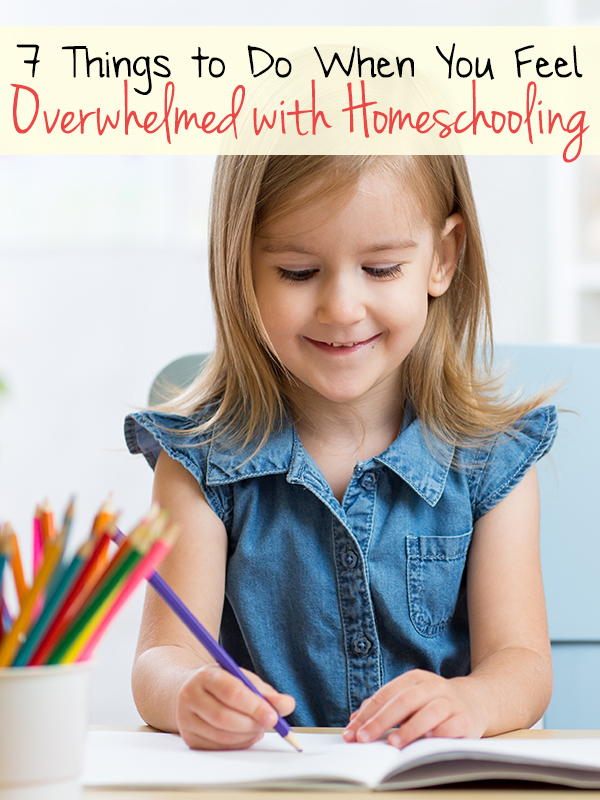 Here are some simple things that you can do when you feel overwhelmed with homeschooling.