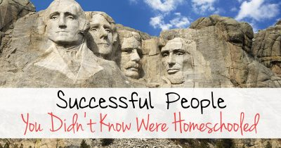 Successful people you didn't know was homeschooled FB