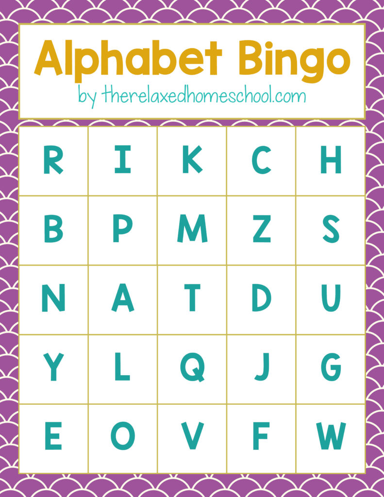 Free Printable Alphabet Letters Bingo Game Download Here