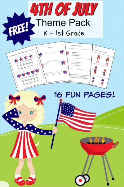4th July Of July Printable Pack | Free Printables | Homeschool Printables | Independence Day Printable Pack
