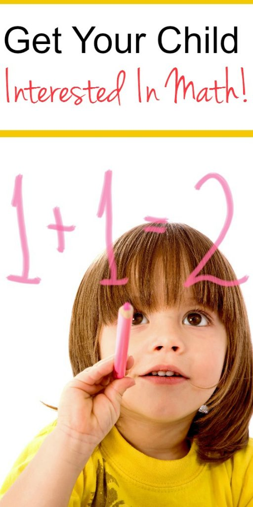 Check out these easy ways to get your child interested in math! Math tips for kids!