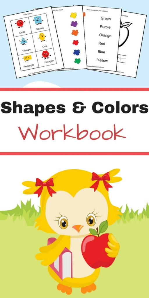 Free Shapes & Colors workbook great for preschool and Kindergarten!
