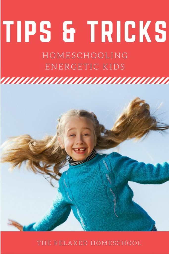 Having trouble homeschooling your energetic child? Check out these tips!