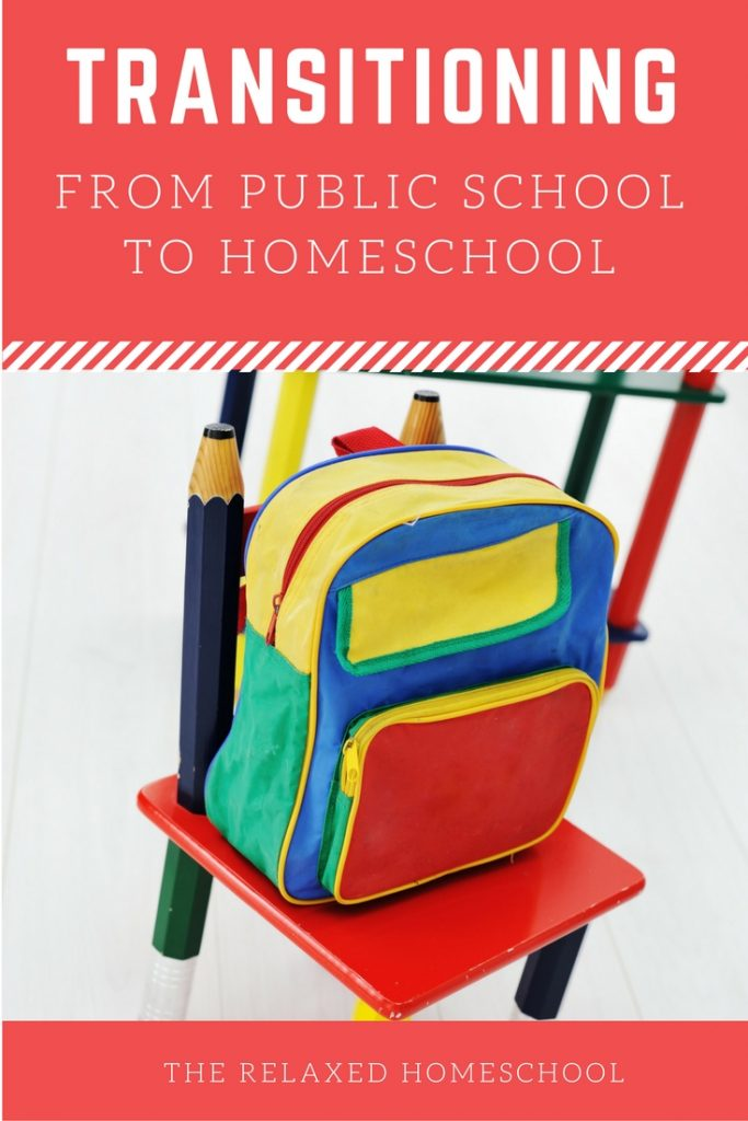 How to transition your public school child into a homeschooling environment an routine. Great tips and tricks!
