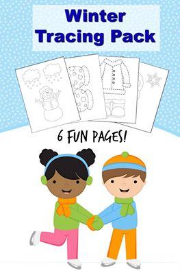 FREE tracing worksheets! Great for preschool and kindergarten aged kids. Free homeschool printables!