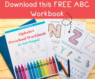 Free Printable Preschool Alphabet Worksheets - The Relaxed ...