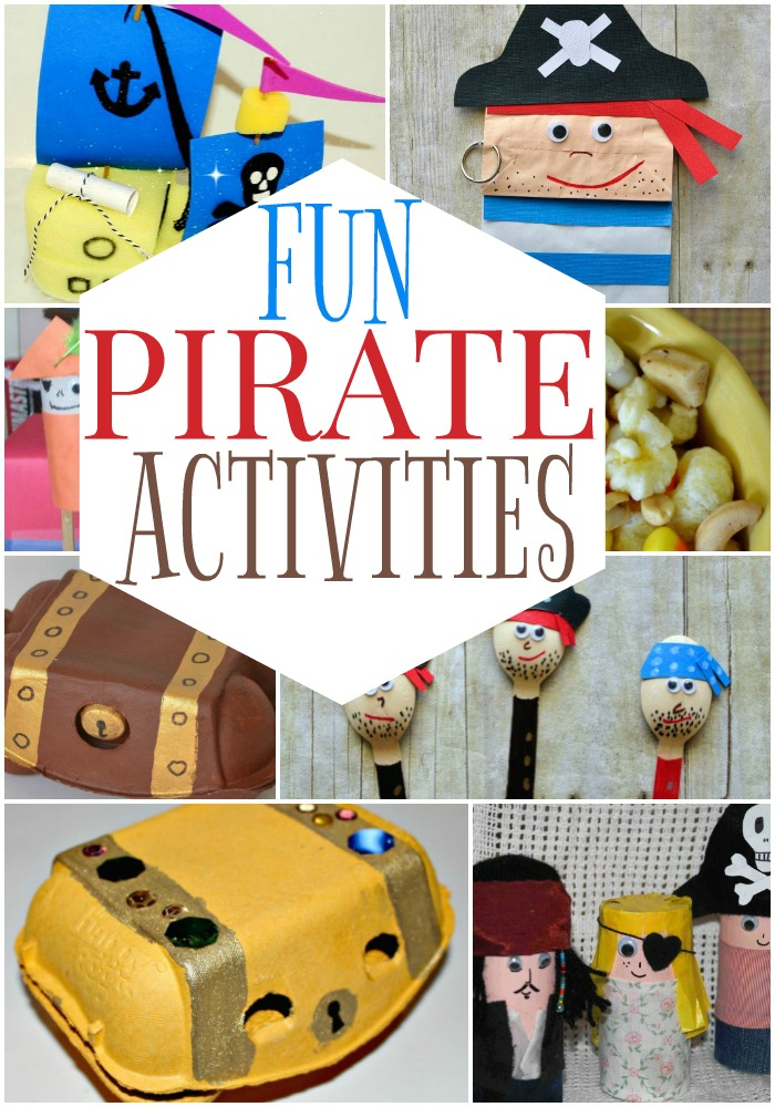 16 Fun pirate craft ideas for your little pirate fan!