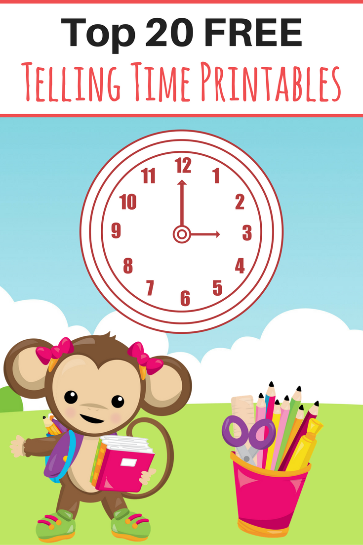 Top 20 FREE Time Telling Printables