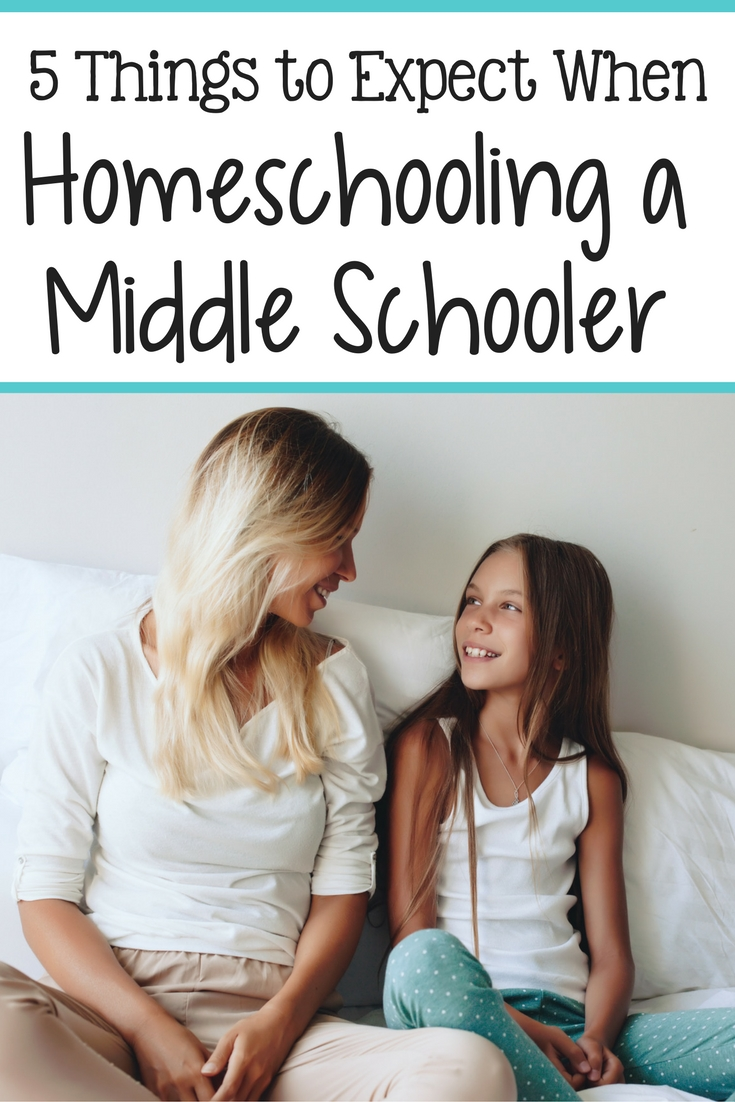 5 Things to Expect When Homeschooling a Middle Schooler