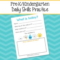 Daily Skills for preschoolers and kindergarteners f