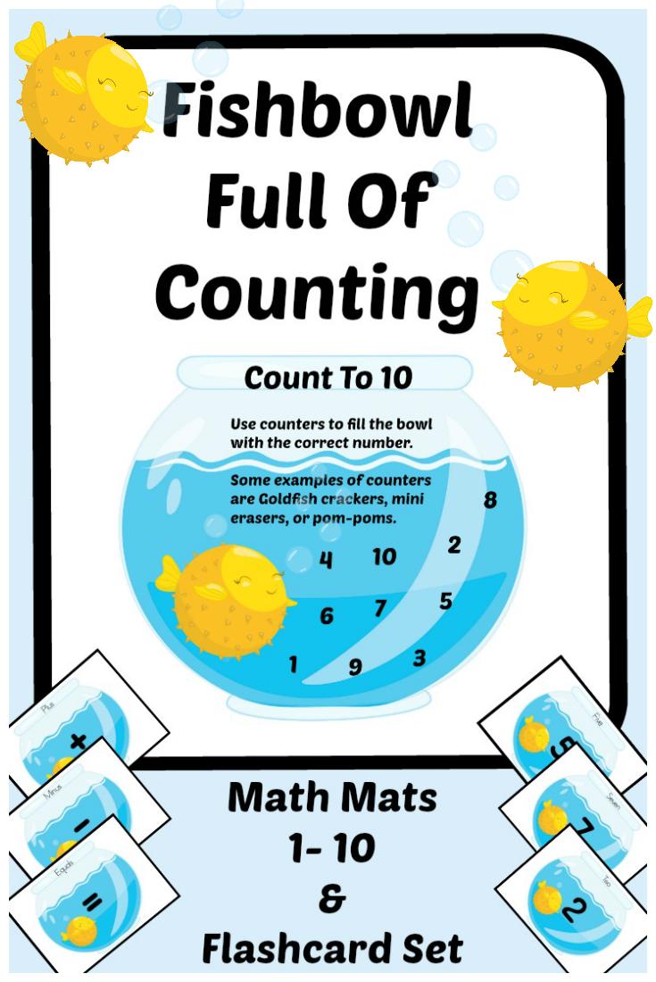 Printable Fishbowl Number Recognition Game Preschool Kindergarten