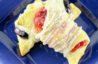 crescent rolls with icing and filling
