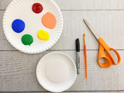 paper plate fractions craft supplies