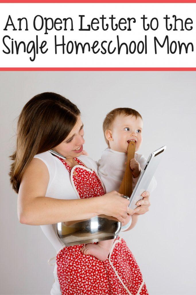 Open Letter to Single Homeschool Mom