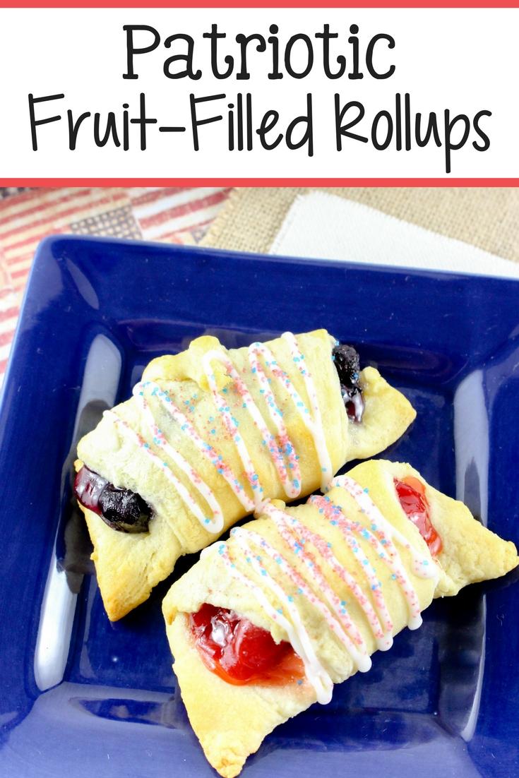 Patriotic fruit filled roll ups