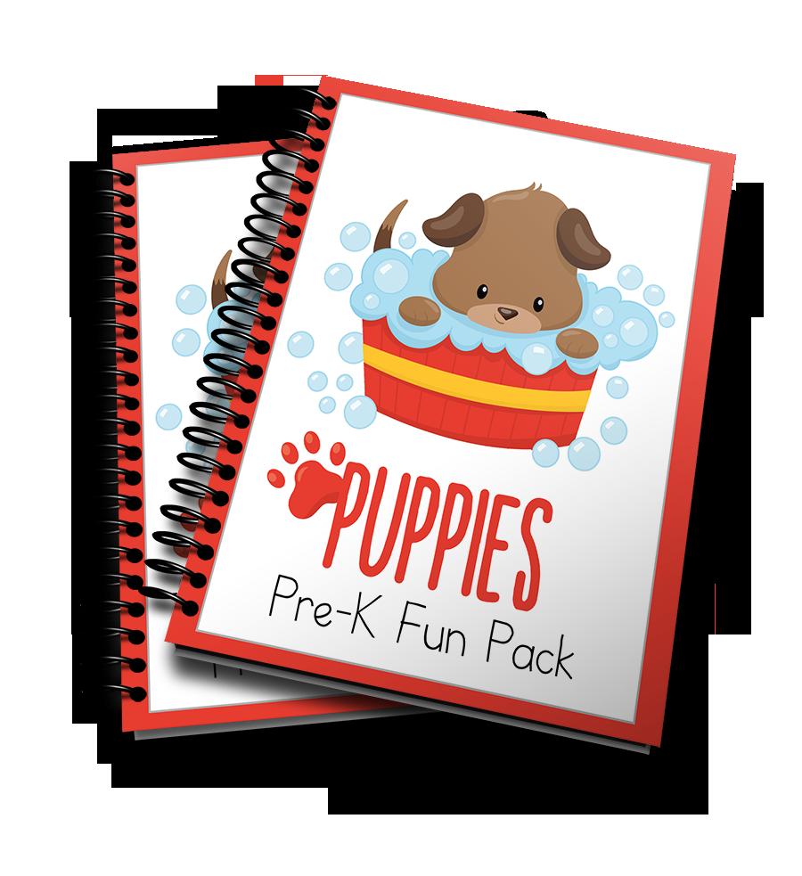 Puppies PreK printable pack
