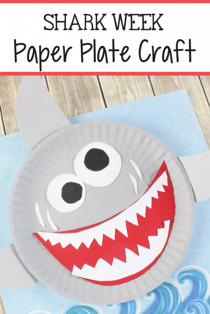 Shark Paper Plate Craft For Kids The Relaxed Homeschool