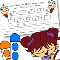 Dot Marker Name Activity Printable Worksheet