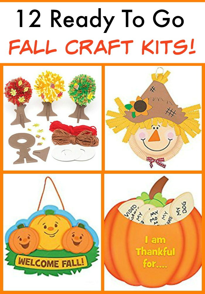 12 Amazing fall craft kits that are ready to go! No planning, no printing, no searching..... Easy peasy!