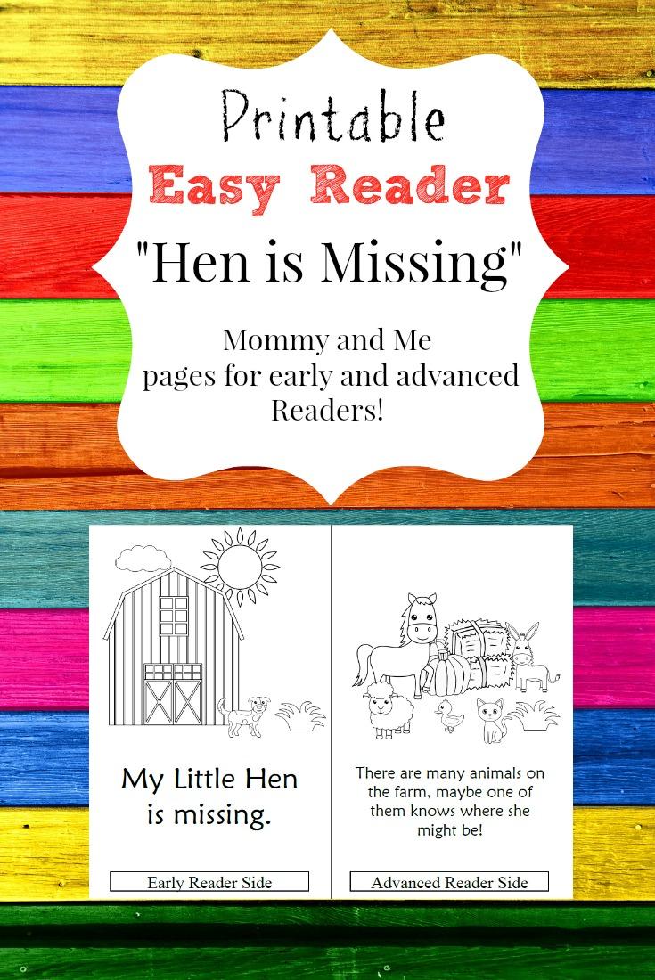 Easy Reader Farm Hen Chicken Reader Printable