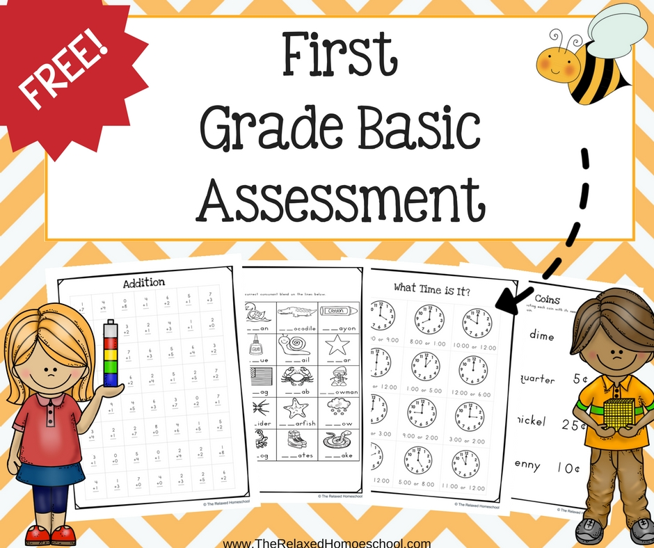 photograph relating to First Grade Assessment Test Printable titled No cost 1st Quality Examination - The Comfy Homeschool