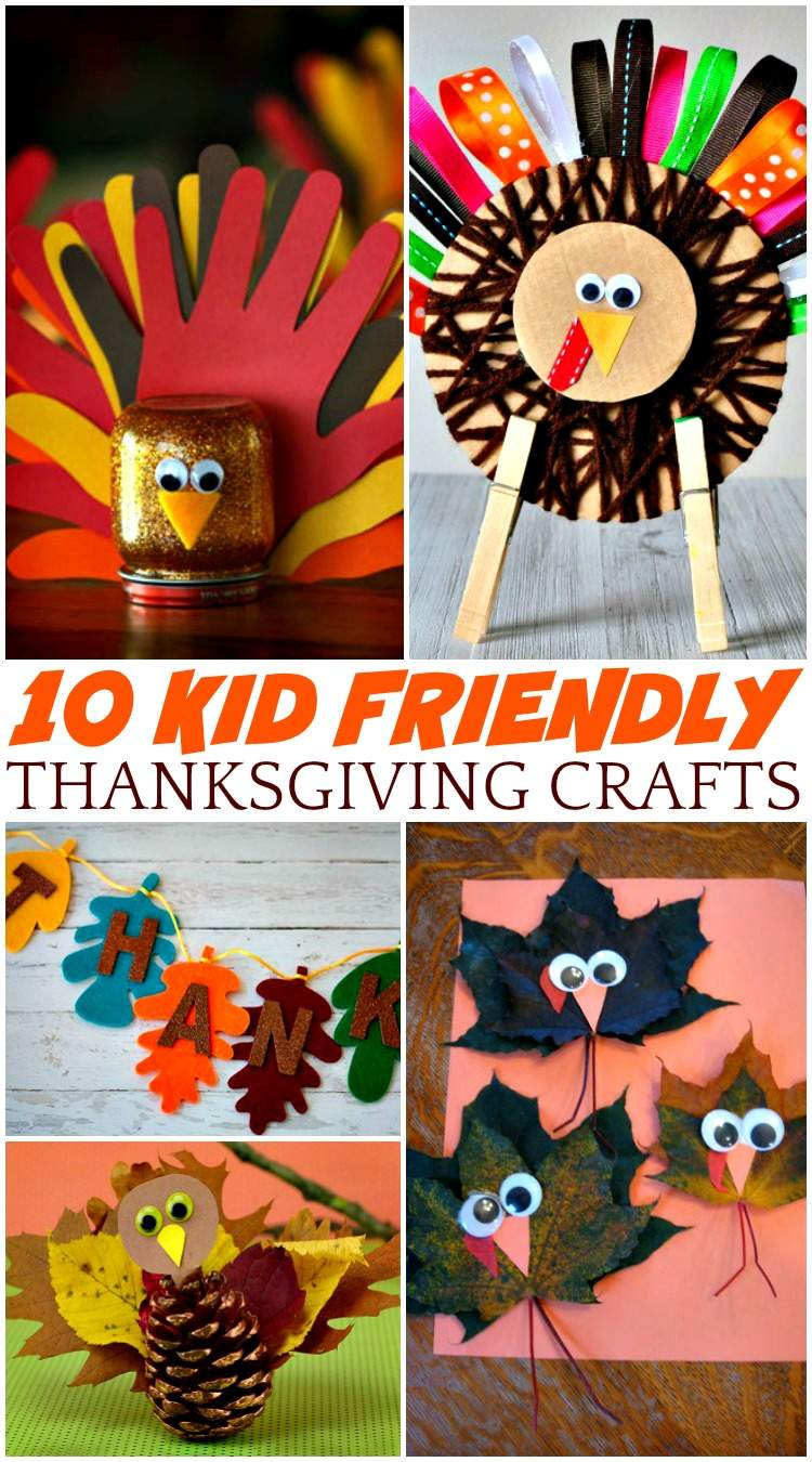 10 Kid Friendly Thanksgiving Crafts