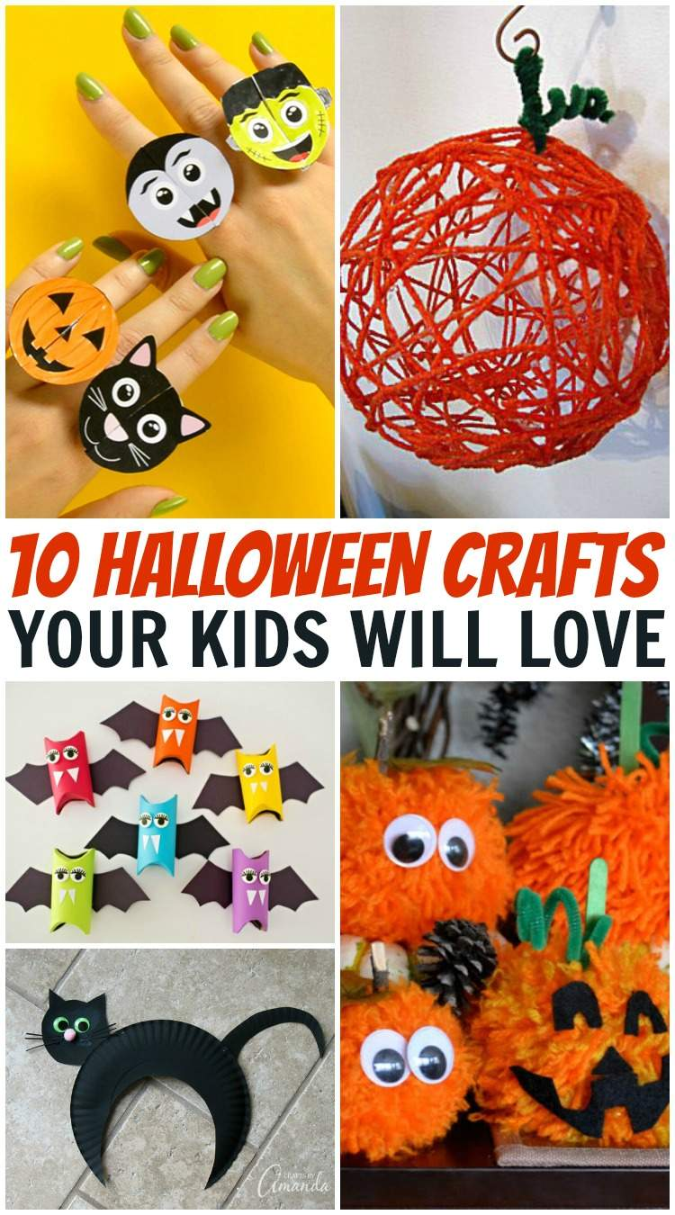 10 Halloween Crafts Your Kids Will Love