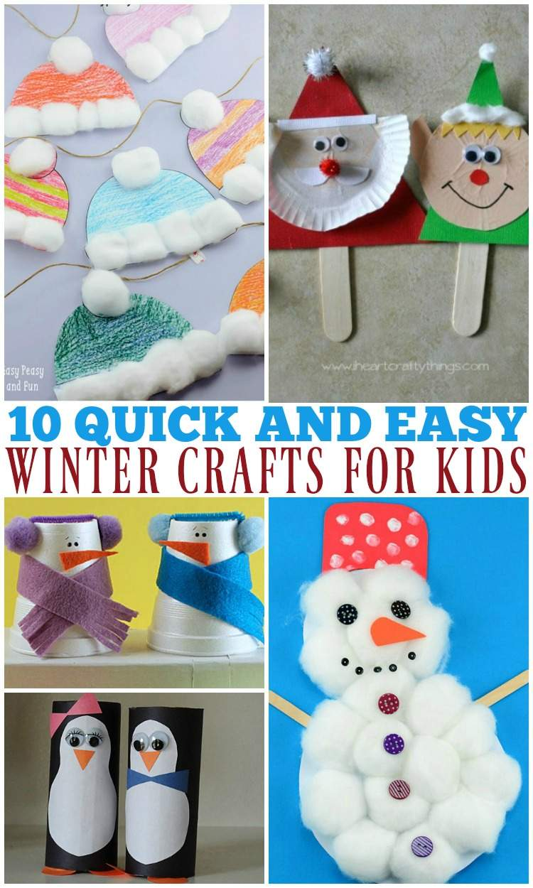 10 Quick and Easy Winter Crafts for Kids