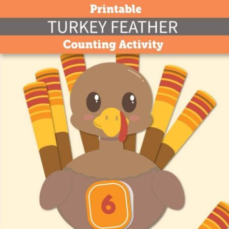 Printable Turkey Feather Counting Activity