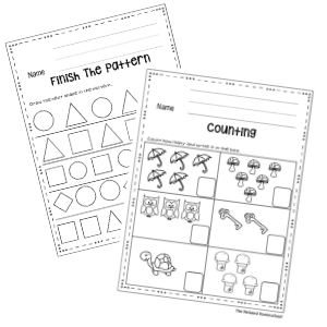 free counting practice worksheets