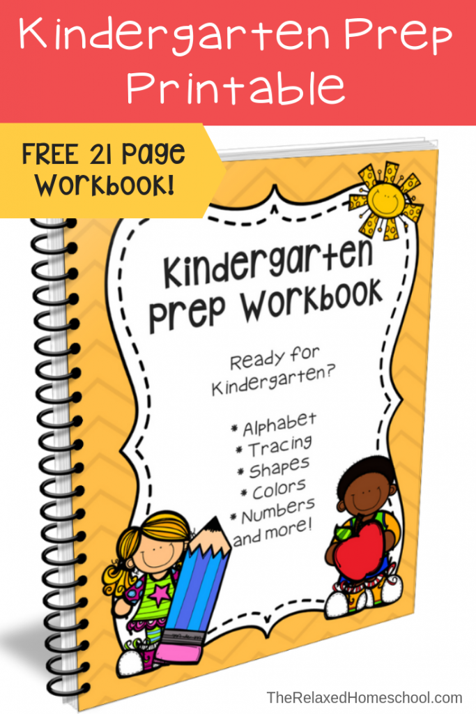 FREE Kindergarten Prep Workbook - The Relaxed Homeschool