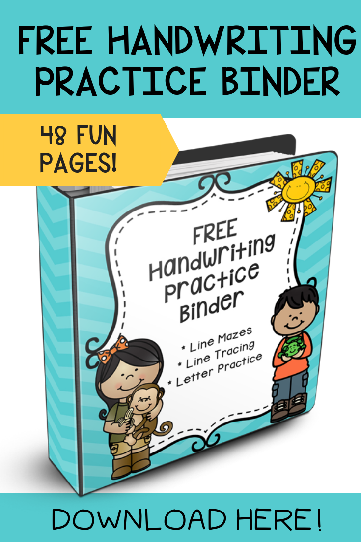 Free handwriting practice sheets for kids to practice and improve their handwriting