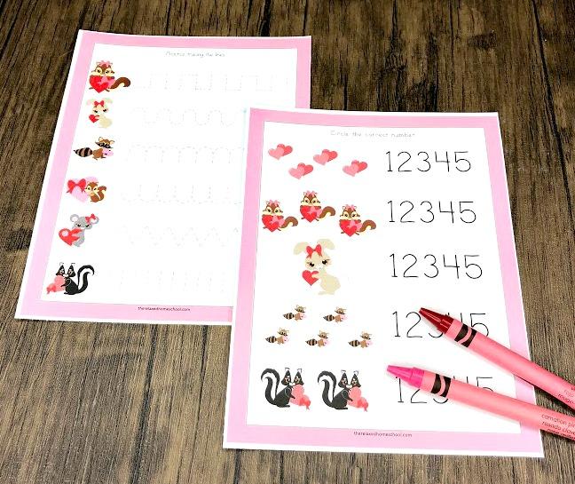 FREE Printable Valentines Day Preschool Pack
