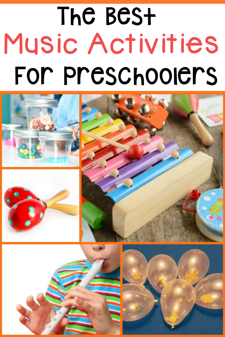 Fun and easy music activities for preschoolers! Lots of fun ideas, videos, crafts and more!