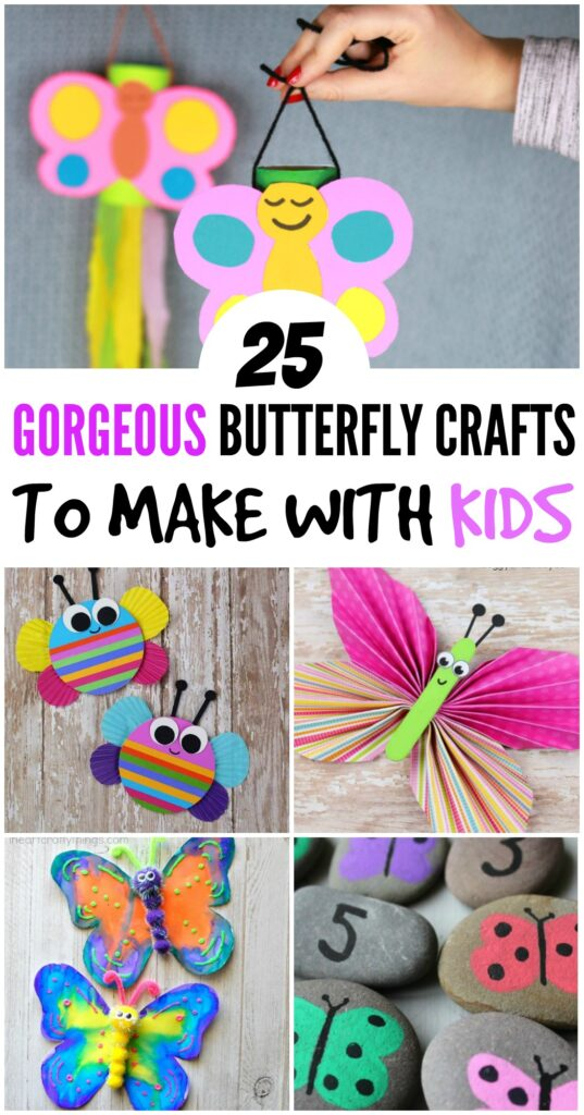 Fun craft for kids! Check out these 25 butterfly crafts for kids. These are sure to help encourage creativity and cure boredom!