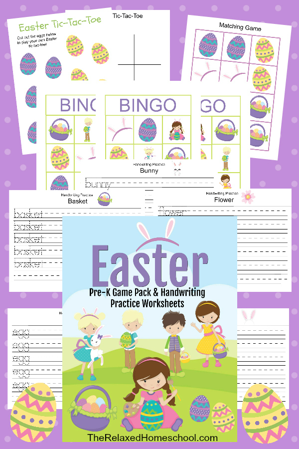 Free Easter Printable: Handwriting, Easter Bingo and more!