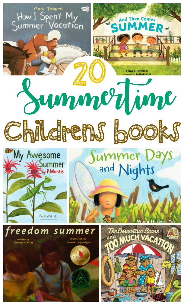 Looking for some great summer books for kids? Here are 20 books that your children will love read this summer!