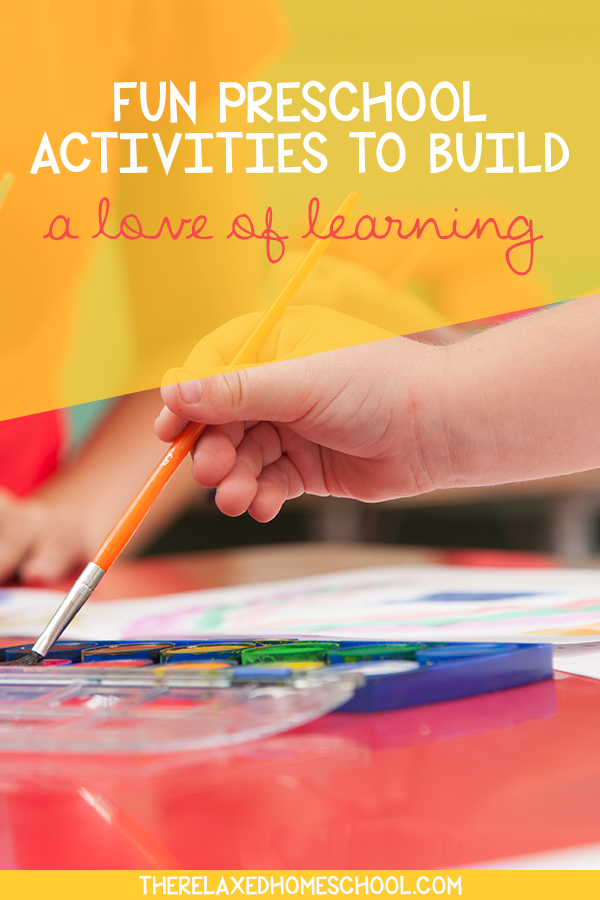 Fun preschool activities that will help build up a love of learning in your children. Be sure to check out these fun educational preschool activities!