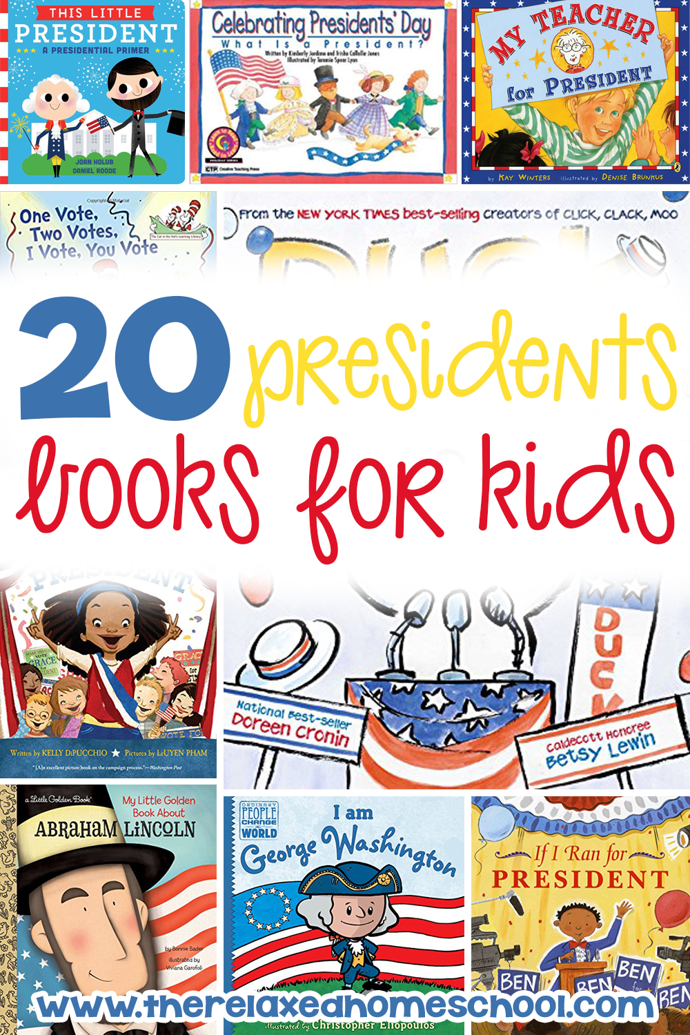 Here is a great way to teach children about the presidents! This is a list of 20 of the top children books about presidents. Let your children learn in a fun way through books!
