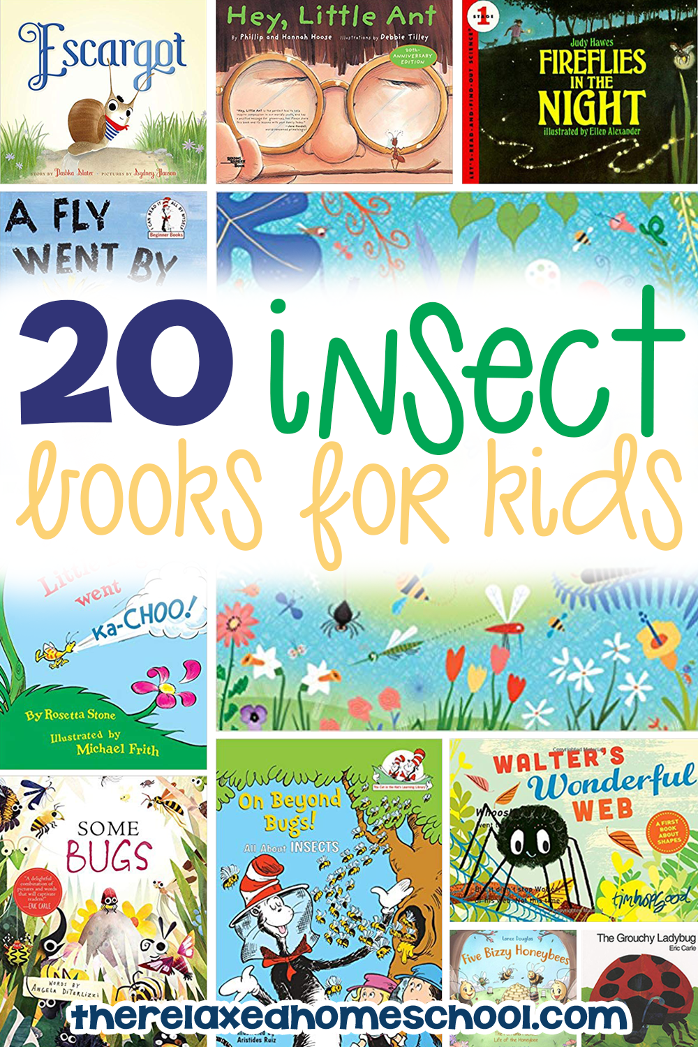 Learning about insects? Here is a list of 20 amazing insect books for kids!