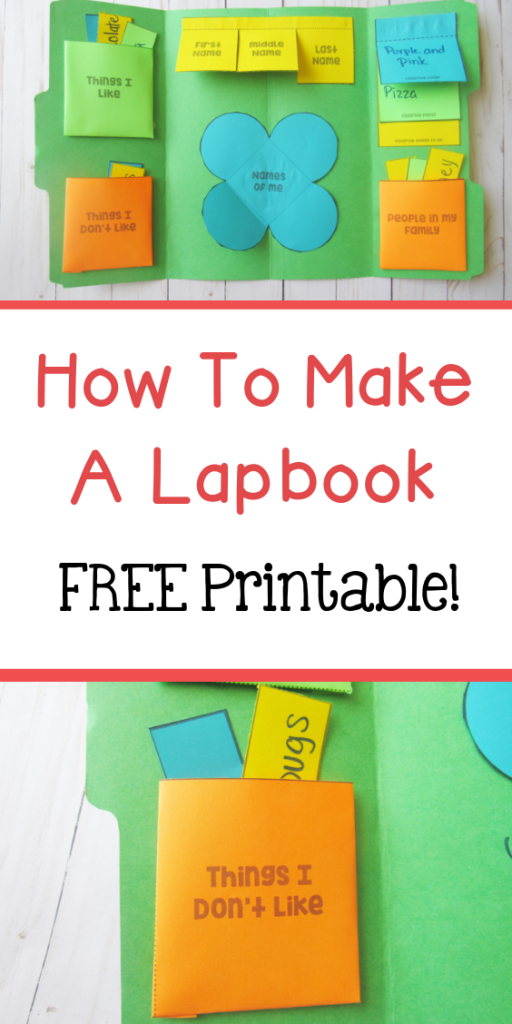 How to make a lapbook plus free lapbook printable inside!