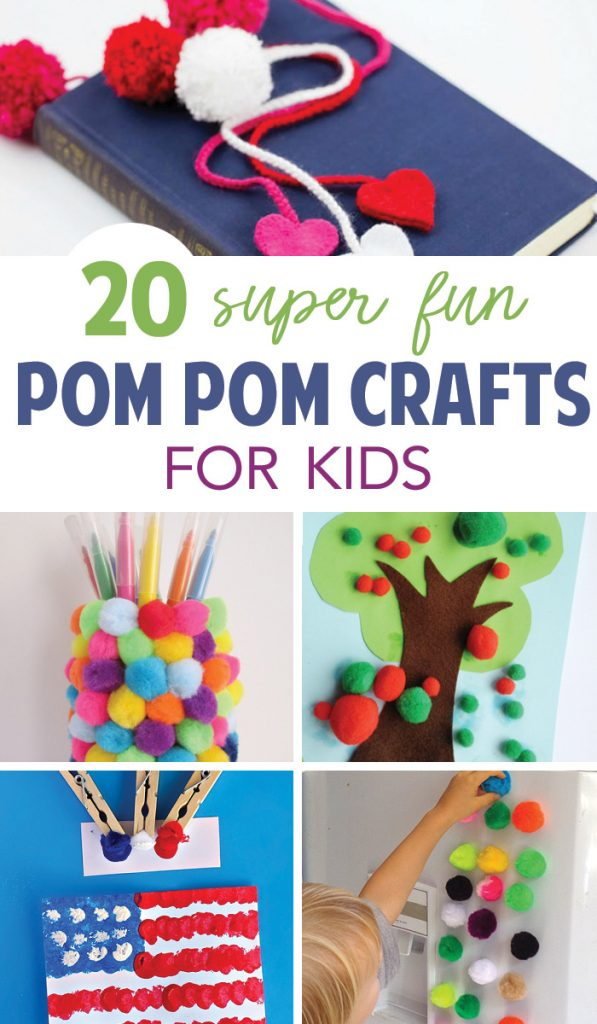 Fun pom pom crafts for kids! A great budget friendly way to bring crafts to life!