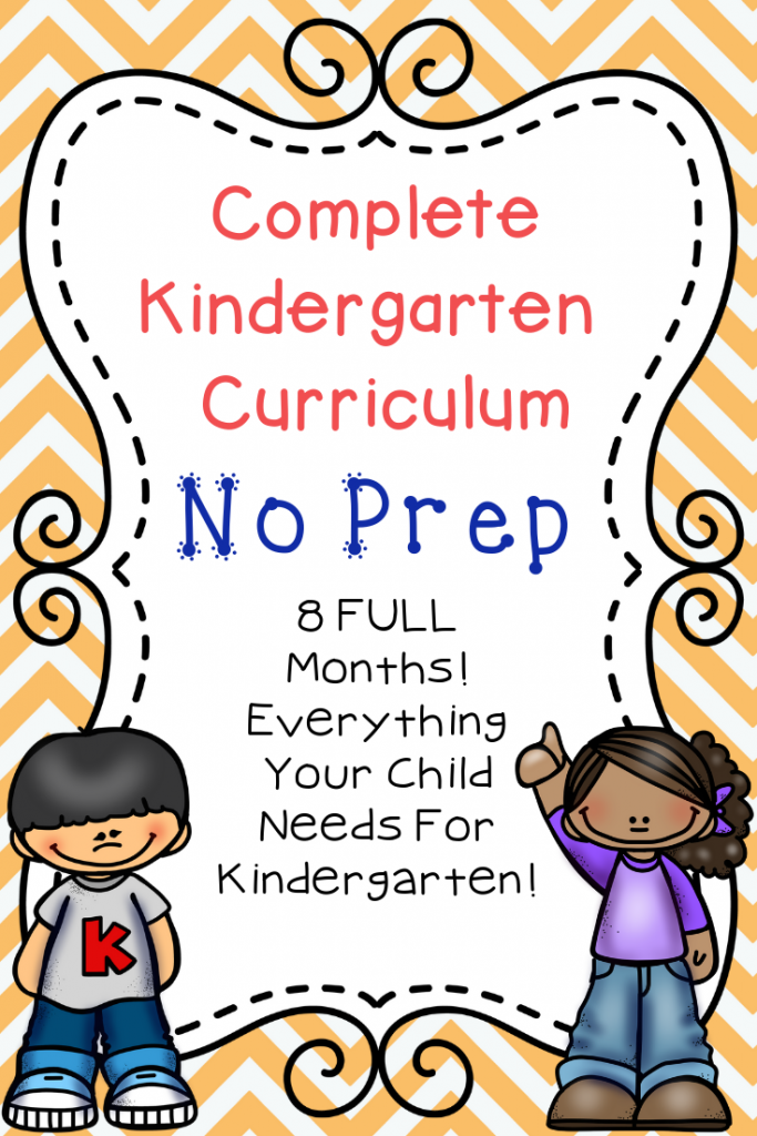 This Kindergarten Curriculum covers everything your kids need to know PLUS it is super easy for you to follow and implement as a parent